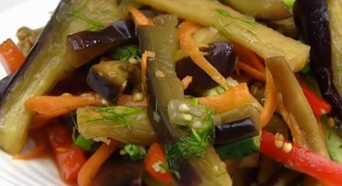 Салат из баклажанов — рецепт по-корейски