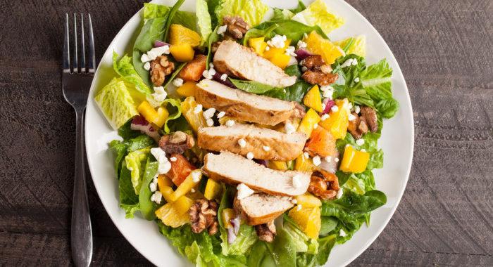 Куриный салат с апельсином рецепт