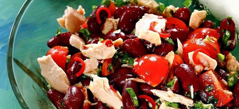 Салат из фасоли Остренький рецепт
