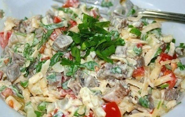 Овощной салат с говядиной рецепт