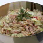 Салат с яйцом и ветчиной рецепт