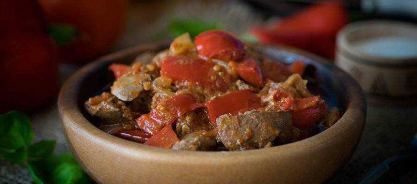Печень с овощами рецепт приготовления