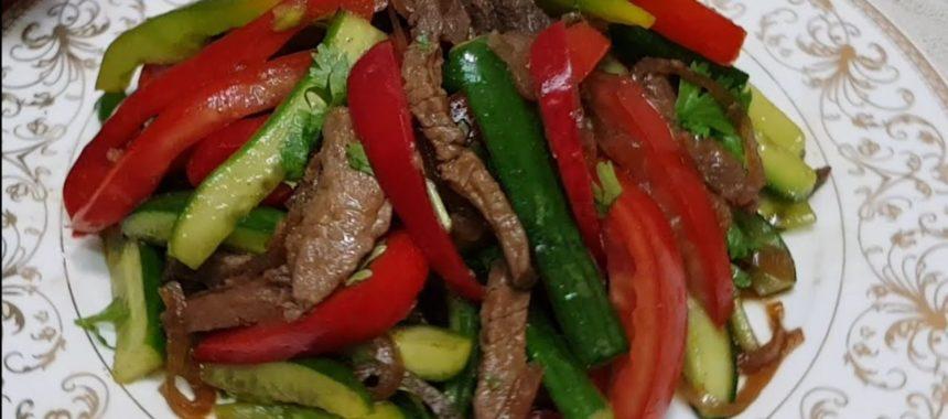 Корейский мясной салат рецепт