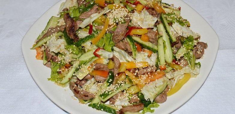 Салат из говядины с огурцом рецепт