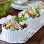 Омлетный салат с огурцом рецепт