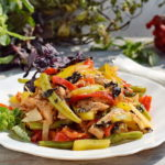 Салат с болгарским перцем и стручковой фасолью