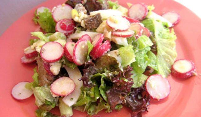 Печеночный салат с редиской рецепт