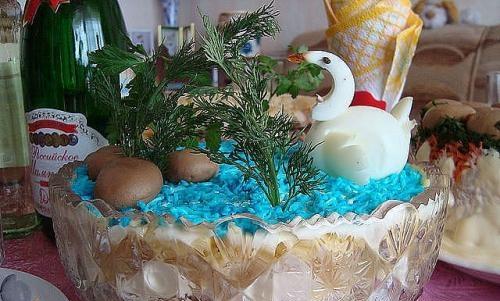 Салат «Лебединое озеро» рецепт приготовления