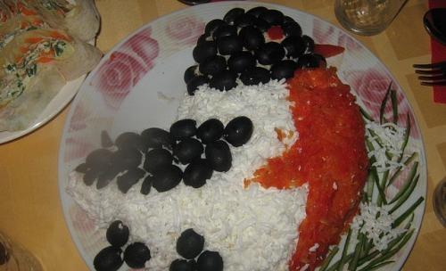 Салат «Снегирь» рецепт приготовления