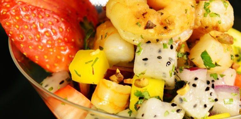 Фруктовый салат с креветками рецепт приготовления