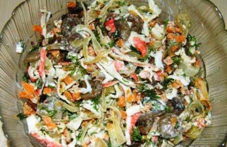 Салат «Необыкновенный» рецепт приготовления