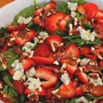 Клубнично шпинатный салат рецепт приготовления