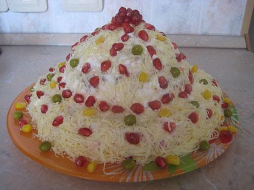 Салат «Шапка Мономаха» рецепт приготовления