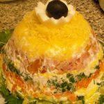 Элитный слоеный салат рецепт приготовления