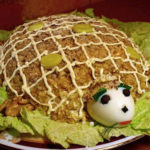 Салат «Черепаха» из печени рецепт приготовления